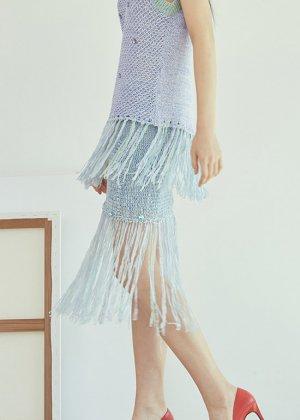 swarovski knit skirt