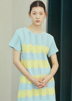 skyblue knit dress