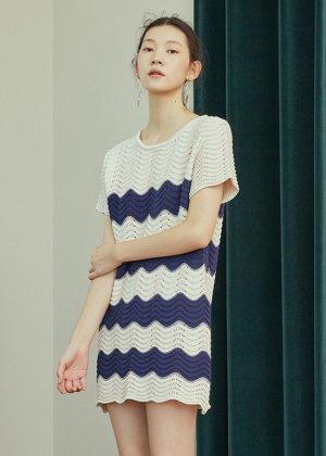 ivory knit dress