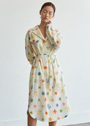 flower trench dress