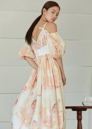 shell offshoulder dress