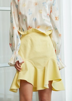 yellow tulip skirt