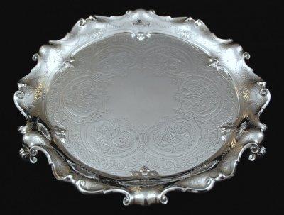 ヴィクトリア時代の純銀サルバ 32� Barnard