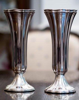 純銀 Flower Vase /個