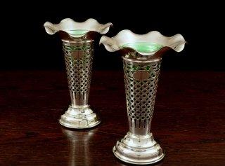 純銀 Flower Vase/個