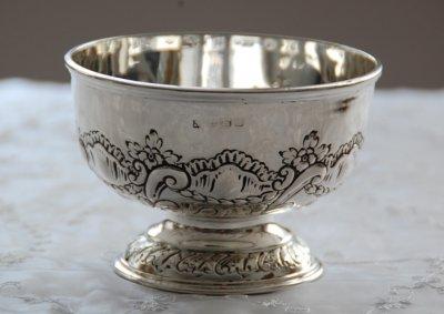 *純銀 ローズボウル 英国スタイルのおもてなし