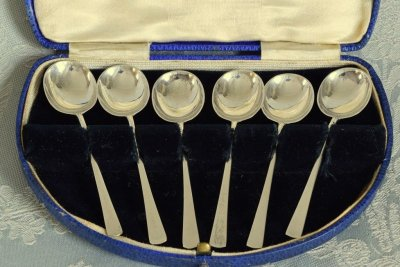 純銀デミタススプーン6本セット
