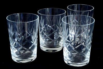 英国ウィスキーグラス4個セット