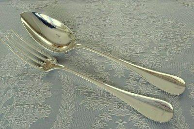 ピュイフォルカ 純銀カトラリー スプーン&フォーク セット