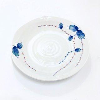 水引草・なぶり5寸皿【雅幸窯】