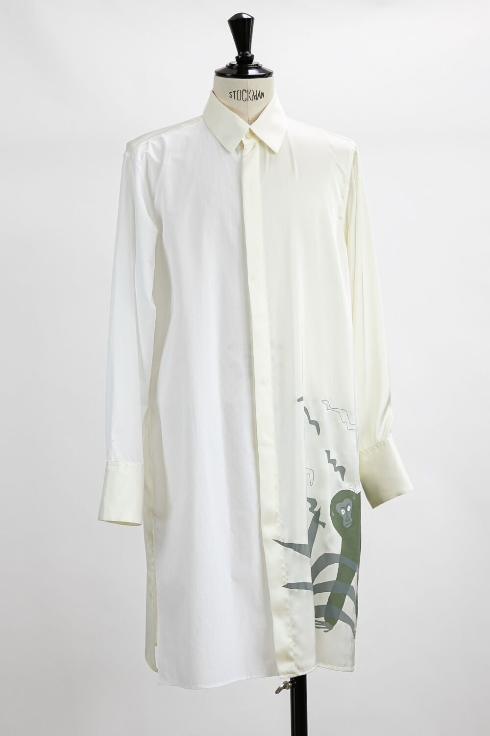 <img class='new_mark_img1' src='https://img.shop-pro.jp/img/new/icons20.gif' style='border:none;display:inline;margin:0px;padding:0px;width:auto;' />50%OFF MONKEY LONG SHIRT WHITE