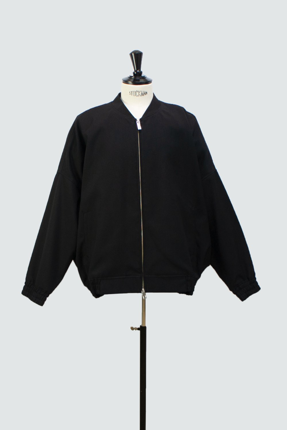 EMB. BALLOON BLOUSON BLACK