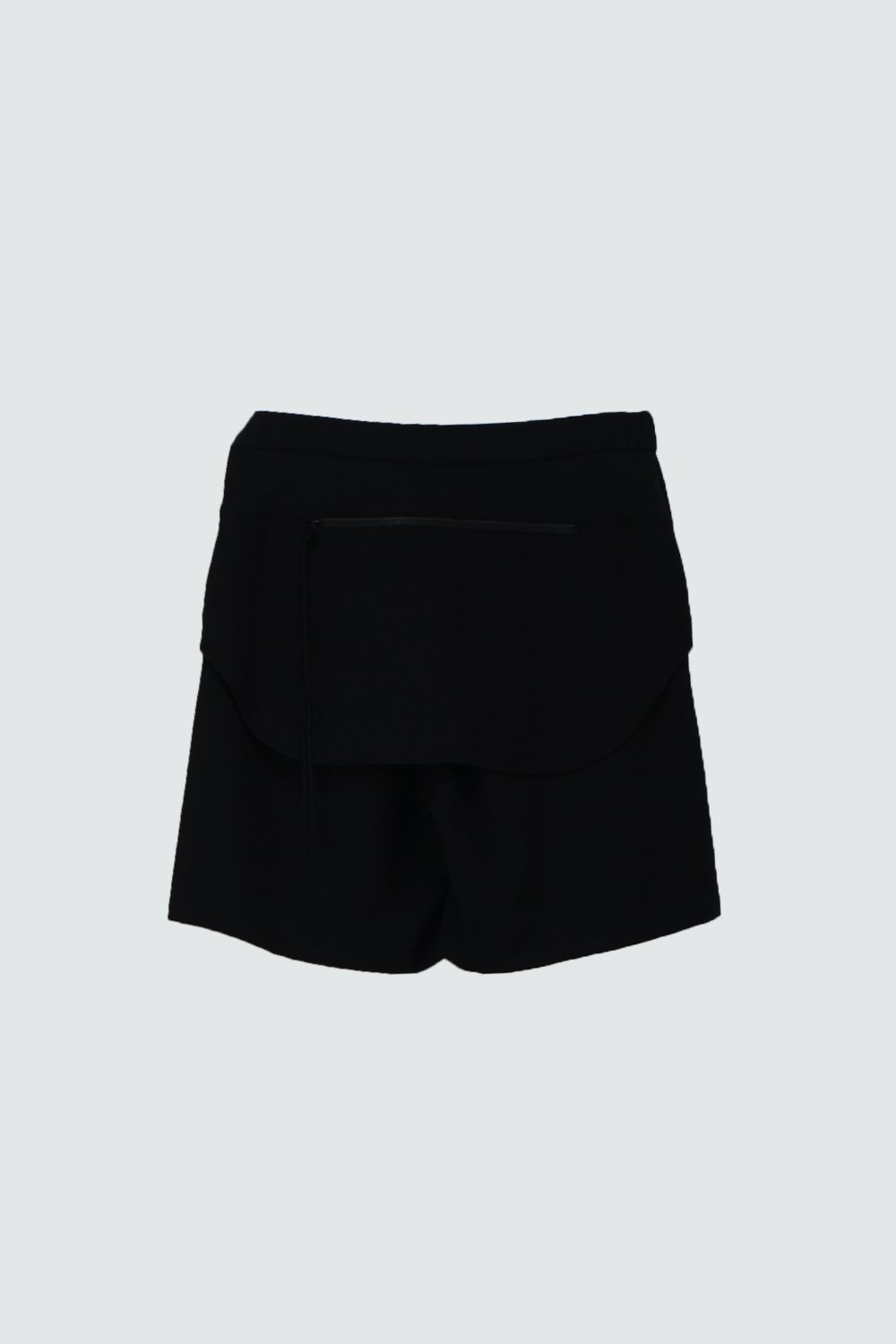 WOOL SHORT PANTS BLACK
