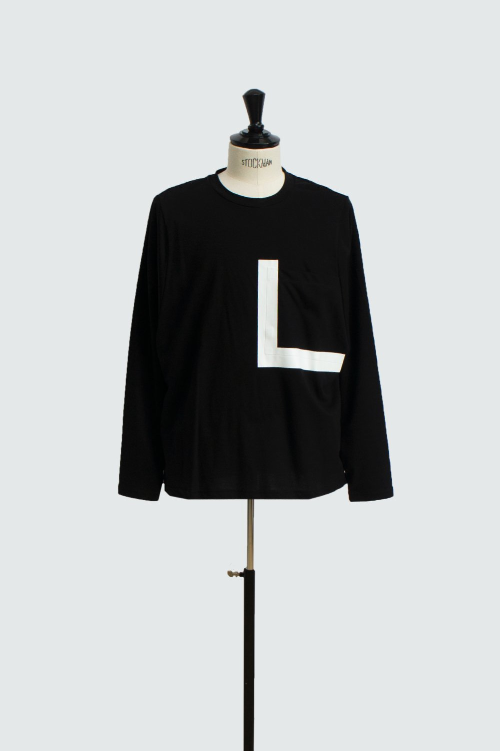 BIG POCKET LONG T-SHIRT BLACK