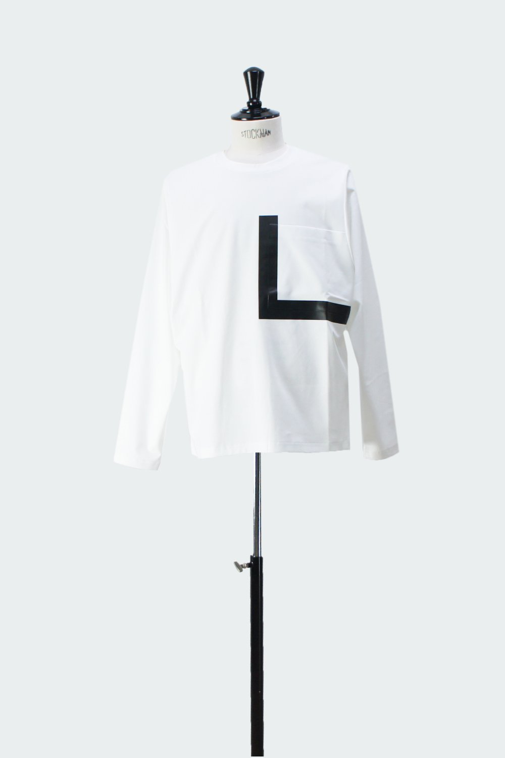 BIG POCKET LONG T-SHIRT WHITE