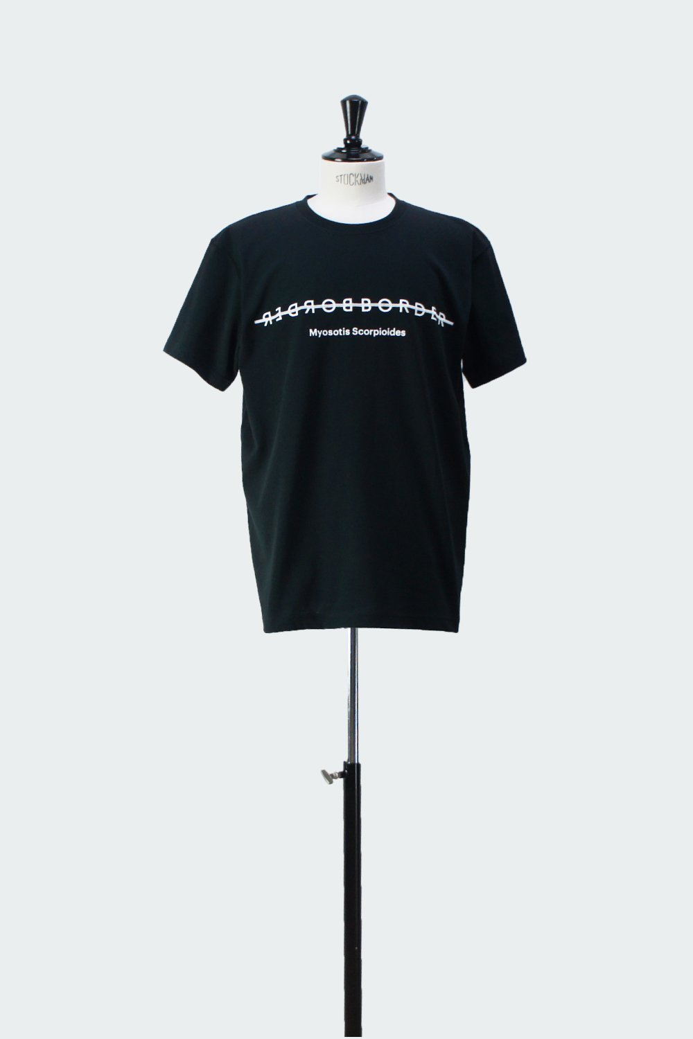 BORDER FRONT T-SHIRT BLACK