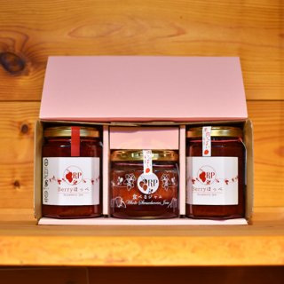 Berryほっぺ2種と食べるジャム大瓶3本セット【粒あり・粒なし・食べるジャムセット】