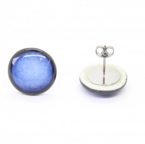 オリジナルタイル通販のタイルメイド 青むらピアス
