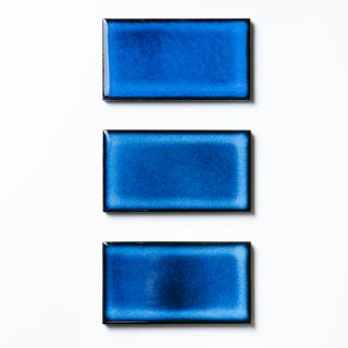 焼き物の風合いむらタイル 青むらタイル 小口(ケース)