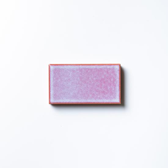 オリジナルタイル通販のタイルメイド 焼き物の風合いむらタイル ピンクむらタイル 小口(ケース)
