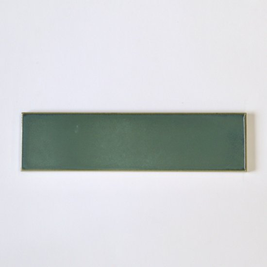 オリジナルタイル通販のタイルメイド 焼き物の風合いむらタイル 緑むらタイル 二丁掛(ケース)