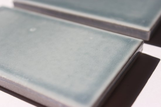 オリジナルタイル通販のタイルメイド 欧米風ふんわりタイル ブルーグレー 小口(ケース)