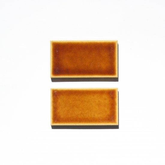 オリジナルタイル通販のタイルメイド 【サンプル請求】欧米風ふんわりタイル ゴールドオーカー 小口