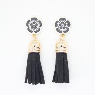 織田信長フリンジ付ピアス(黒)|オリジナルタイル通販のタイルメイド