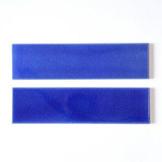 【サンプル請求】光と溶け合う クラックタイル 青 二丁掛|オリジナルタイル通販のタイルメイド