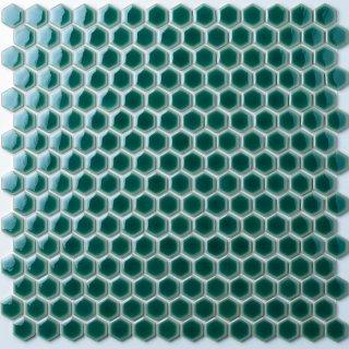 ヘキサゴン グリーンガラスタイル 30シート入