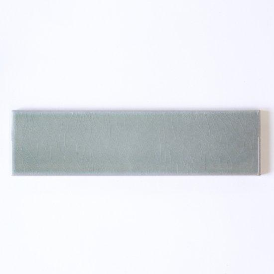 オリジナルタイル通販のタイルメイド 光と溶け合うクラックタイル 薄青緑 二丁掛(ケース)