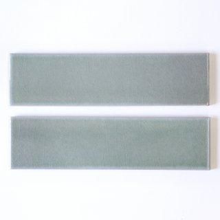 光と溶け合うクラックタイル 薄青緑 二丁掛(ケース)