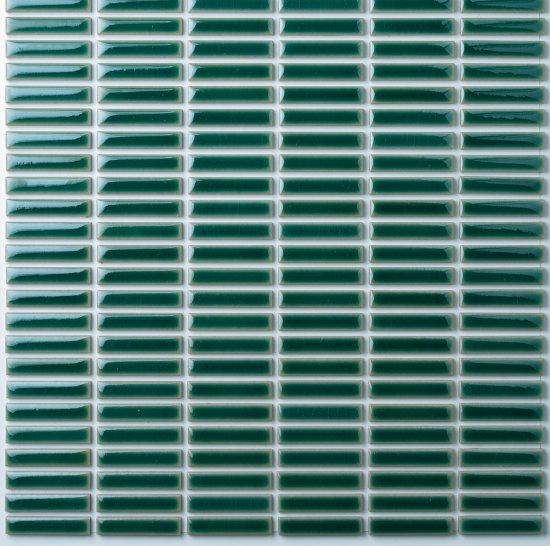 オリジナルタイル通販のタイルメイド モノタイル グリーン スダレ貼り 30シート入