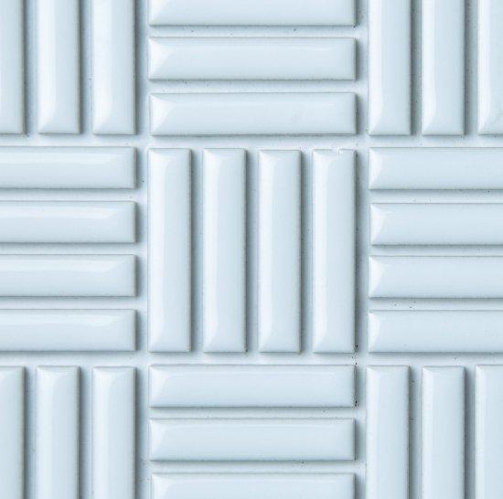 オリジナルタイル通販のタイルメイド モノタイル クリアホワイト ボックス貼り 30シート入