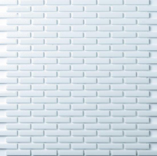 オリジナルタイル通販のタイルメイド モノタイル パールホワイト レンガ貼り 30シート入