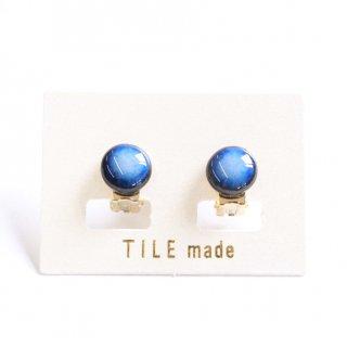 青むらタイルイヤリング(直径10mm)
