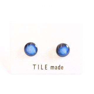青むらタイルピアス(直径10mm)