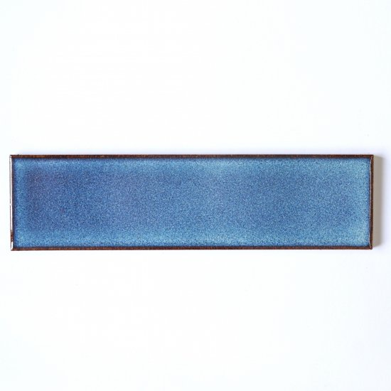 オリジナルタイル通販のタイルメイド 焼き物の風合いむらタイル 青錆むらタイル 二丁掛(ケース)