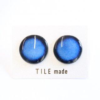 青むらタイルピアス(直径20mm)