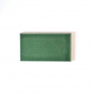 【サンプル請求】自然の輝きをそのままにネイチャータイル 森林(もり)カラータイル【濃緑】 小口 オリジナルタイル通販のタイルメイド