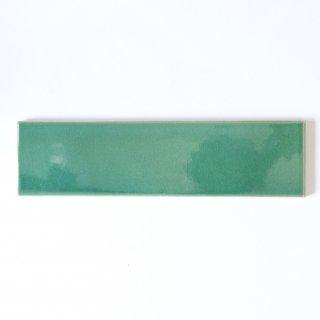 【サンプル請求】自然の輝きをそのままにネイチャータイル 森林(もり)カラータイル【青緑】 二丁掛 オリジナルタイル通販のタイルメイド