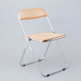Plia Chair<br>(Rattan Webbing / Chrome)