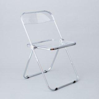 Plia Chair (Clear / Chrome)