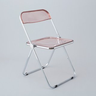 Plia Chair (Smoke Pink / Chrome)