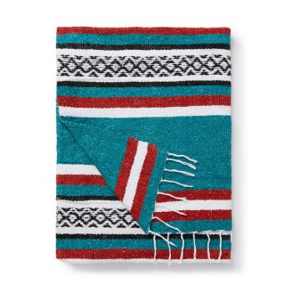 "Tlaxcala Mexican Blanket ""Rustic Green"""
