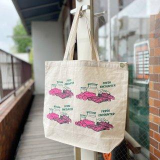 """Original Tote Bag """"FRESH ENCOUNTER"""" (Pink)"""