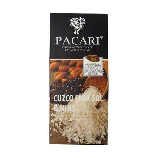 【PACARI】ソルト&ニブ チョコレートバー / CUZCO PINK SAL&NIBS Chocolate Bar