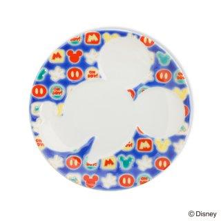ミッキーマウス/プレート 小紋 青