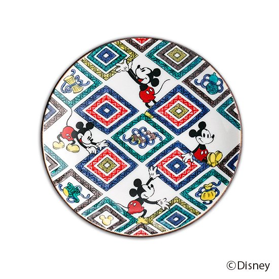 ミッキーマウス小皿 / 菱文