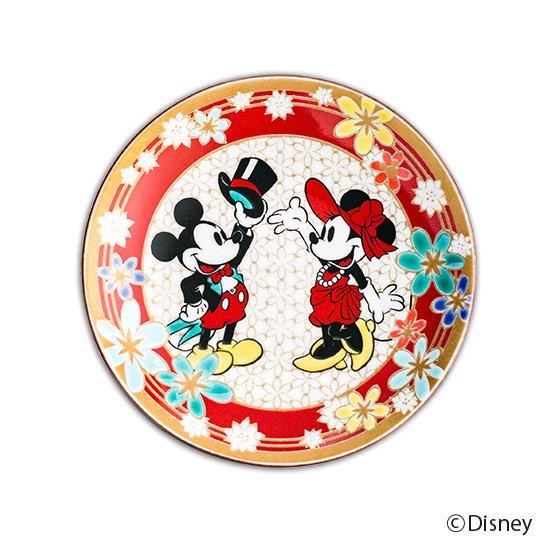 ミッキーマウス小皿 / 花詰